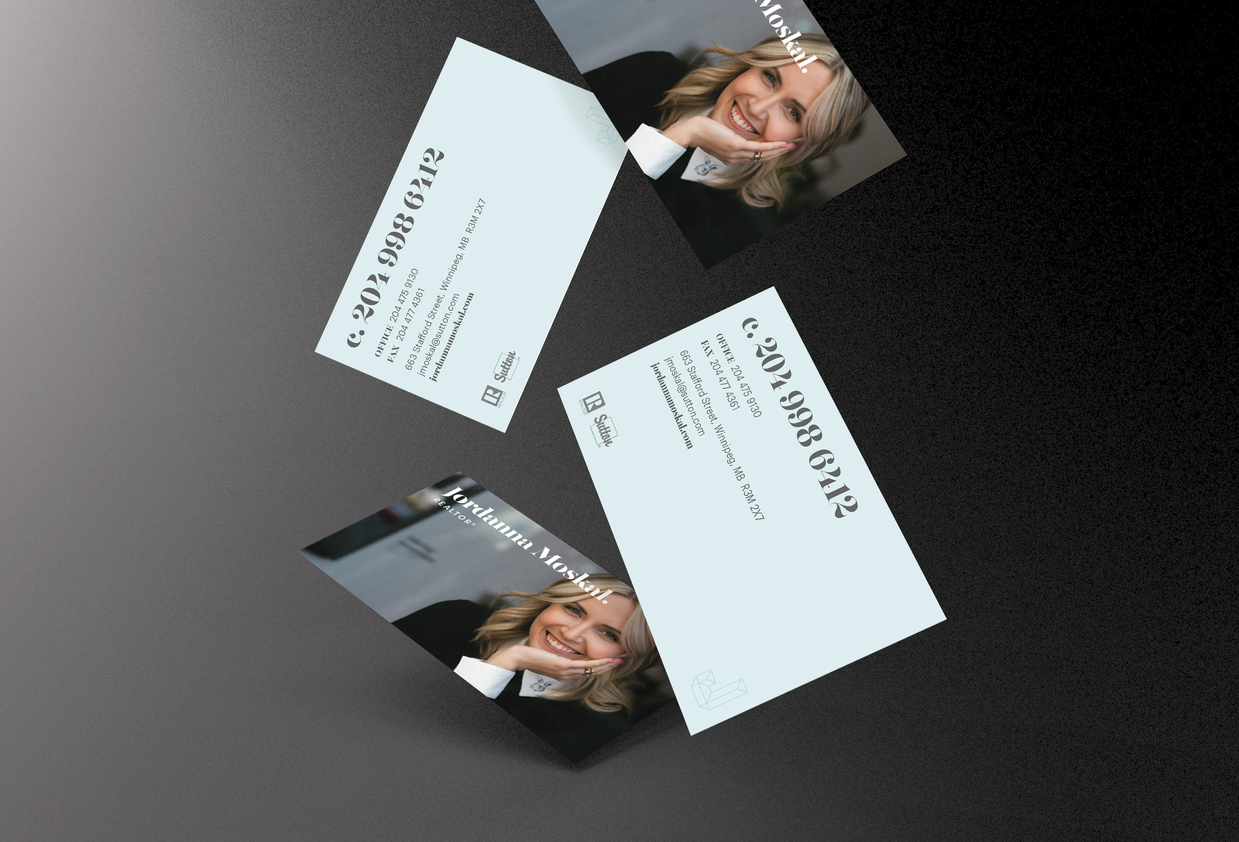 Jordanna moskal realtor business cards fusion a creative agency clientjordanna moskal realtorprojectbusiness cards share reheart Image collections